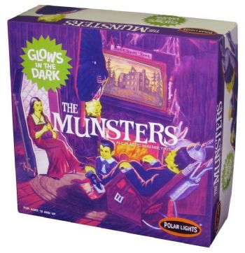The Munsters Living Room  Glow-In-The-Dark Model Kit